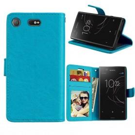 Mobil lommebok 3-kort Sony Xperia XZ1 Compact - Blå