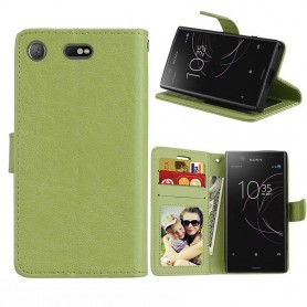 Mobil lommebok 3-kort Sony Xperia XZ1 Compact - Grønn