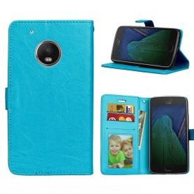Mobil lommebok 3-kort Motorola Moto G5 Plus - Blå
