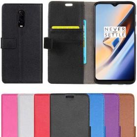 Mobil lommebok 2-kort OnePlus 6T mobilveske lærveskeOnline