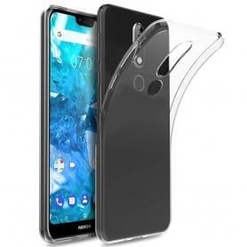 Nokia 7.1 Plus Silikonetui Gjennomsiktig mobilskall