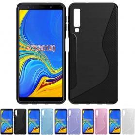 S Line silikonskall Samsung Galaxy A7 2018 mobilskall
