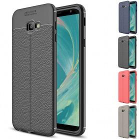 Lærmønstret TPU-deksel Samsung Galaxy J4 Plus 2018 (SM-J415F)