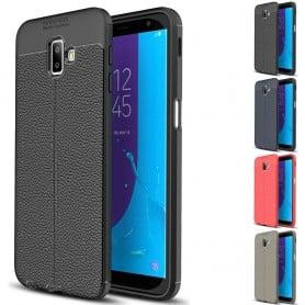 Lærmønstret TPU-skall Samsung Galaxy J6 Plus 2018 (SM-J610F) mobiltelefon etui