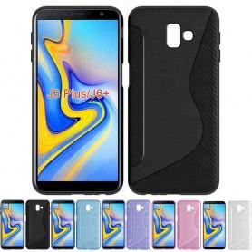 S Line Silikon TPU Mobiltelefon Samsung Galaxy J6 Plus (SM-J610F) Mobiltelefon Veske