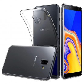 Silikonetui Gjennomsiktig mobiltelefonetui til Samsung Galaxy J6 Plus (SM-J610F) Caseonline Protection