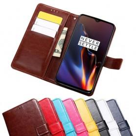 Mobil lommebok 3-kort OnePlus 6T veske mobiltelefon veske caseonline