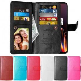 Mobil lommebok Dobbelt flip Flexi 9-kort OnePlus 6T mobilveske caseonline