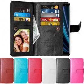 Dobbel flip Flexi 9-kort Sony Xperia XZ3 (H9436) mobil lommebokveske