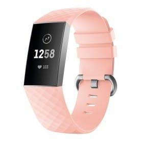 Sport armbånd for Fitbit Charge 3 - Lys rosa klokke armbånd caseonline