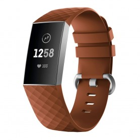 Sport armbånd for Fitbit Charge 3 - Brun