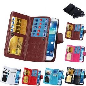 Dobbelt flip Magnet 2i1 Samsung Galaxy S4 GT -i9500 mobiltelefon veske