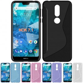 S Line silikonskall Nokia 7.1 2018 (TA-1095) mobil skall