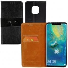 Mobil lommebok 2-korts italiensk skinn Huawei Mate 20 Pro (LYA-L29)