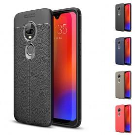 Lærmønstret TPU-skall Motorola Moto G7 (XT1962) mobilveske caseonline