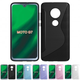 S Line silikon deksel til Motorola Moto G7 (XT1962) beskyttelsesetui for mobiltelefoner