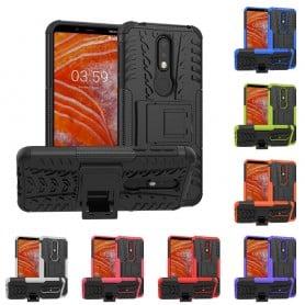 Slagbestandig mobilskall med stativ Nokia 3.1 Plus (TA-1118) kaseonline