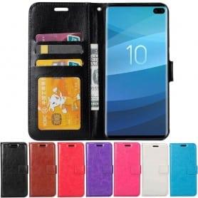 Mobil lommebok 3-kort Samsung Galaxy S10 Plus (SM-G975F) Mobiltelefon beskyttelsesetui Caseonline