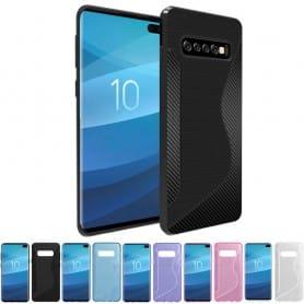 S Line silikon etui til Samsung Galaxy S10 Plus (SM-G975F) beskyttelse av mobiltelefoner