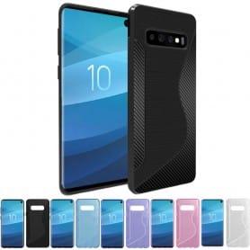 Mobiltelefon S-Line silikonetui til Samsung Galaxy S10 (SM-G973F)