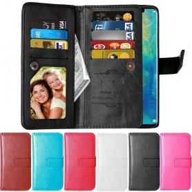 Dobbel klaff Flexi 9-kort Huawei P30 Pro mobil lommebokdeksel beskyttelse caseonline