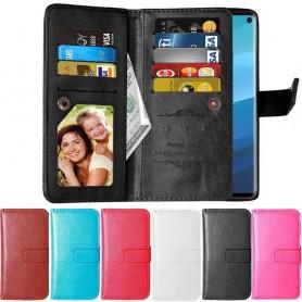 Dobbelt flip Flexi 9-kort Samsung Galaxy S10E (SM-G970F) mobiltelefon veske mobil lommebok caseonline