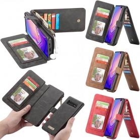 CaseMe lommebok-14-kort-Samsung- Galaxy -S10- Plus -SM-G975F-mobil lommebok-sag-mobil-skall-sak-sak-linje