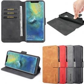 DG-Ming mobil lommebok 3-kort Huawei Mate 20 Pro (LYA-L29) mobiltelefon veske på nettet