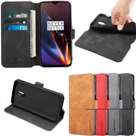 DG-Ming mobil lommebok 3-kort OnePlus 6T (A6010) mobiltelefon veske caseonline