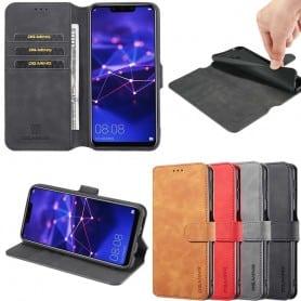 DG-Ming Mobil lommebok 3-kort Huawei Mate 20 Lite (SNE-LX1) Mobiltelefon veske