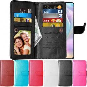 mobil lommebok Dobbel flip Flexi 9-kort Huawei P30 Lite (MAR-LX1) mobiltelefon beskyttelse av saken Caseonline
