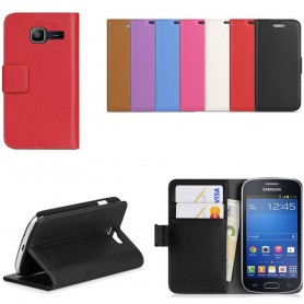 Samsung Galaxy Fresh Duo Mobil lommebok 2-kort mobildeksel