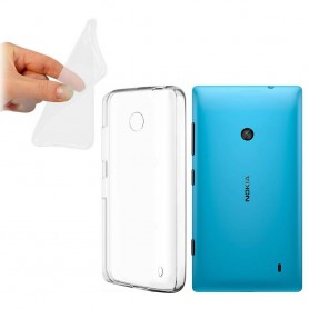 Nokia Lumia 520 silikon må være gjennomsiktig