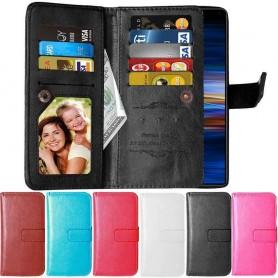 Mobil lommebok Double Flip Flexi 9-kort Sony Xperia 1 (I8134) Multi-lommebokveske Mobiltelefon veske