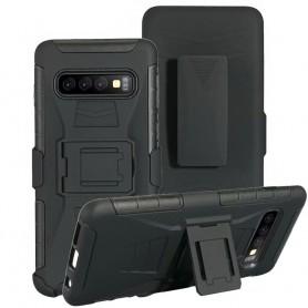 Slagbestandig skall med hylster 3i1 Samsung Galaxy S10 (SM-G973F)