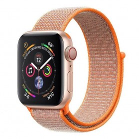 Apple Watch 4 (40mm) Nylon armbånd borrelås - Spicy Orange
