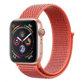 Apple Watch 4 (40mm) Nylon armbånd - Nektarin