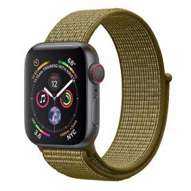Apple Watch 4 (40mm) Nylon armbånd - Olive Flak