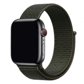 Apple Watch 38mm Nylon armbånd Cargo Chaki