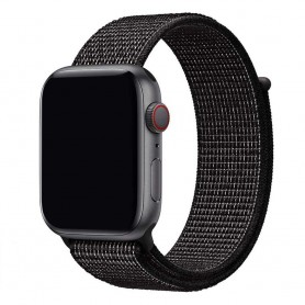 Apple Watch 42mm Nylon armbånd - svart Nike