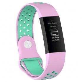 EBN Sport Bracelet Fitbit Charge 3 - Pink / mint