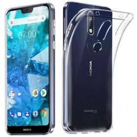 Silikonetui til gjennomsiktig Nokia 7.1 2018 (TA-1095)