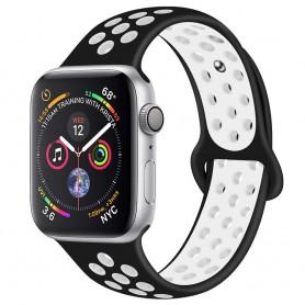 EBN Sport Armbånd Apple Watch 4 (40) - Svart / hvit
