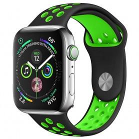 EBN Sport Armbånd Apple Watch 4 (40) - Svart / grønn