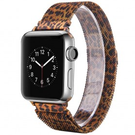 Apple Watch 4 (44) Armbånd Milanese - Leopard