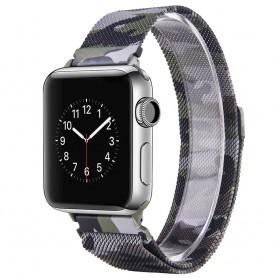 Apple Watch 4 (40) Armbånd Milanese Camo - Grønn