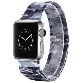 Apple Watch 4 (40) Armbånd Milanese Camo - Grå