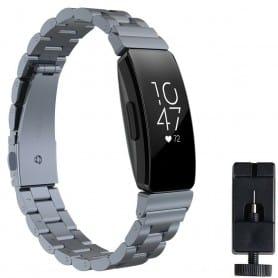 Rustfritt stål armbånd FITBIT Inspire / Inspire HR - Grå