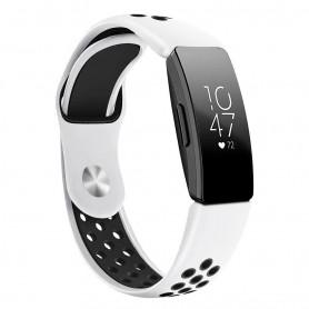 EBN Sport armbånd Fitbit Inspire / Inspire HR - Hvit / svart