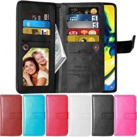 Mobil lommebokveske Double Flip Flexi 9-kort Samsung Galaxy A80 (SM-A805F)
